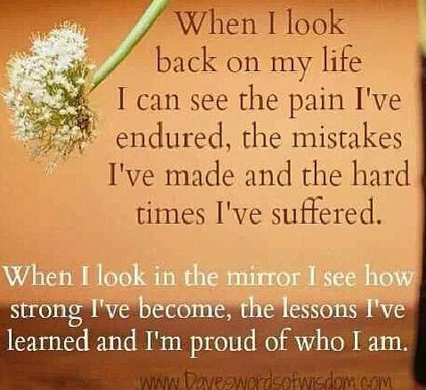 When I look back